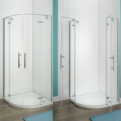 Frameless Quadrant Shower Enclosure and Tray & Waste Corner Cubicle Screen Door