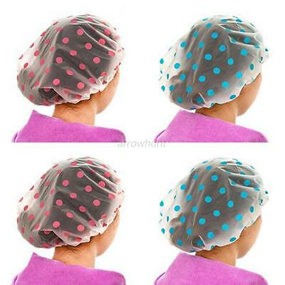 Useful Bathroom Waterproof Shower Caps Elastic Band Cartoon Bath Shower Hat New