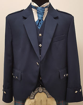 New Navy Argyll Jacket & Vest Scottish Made for Kilts Sale Offer