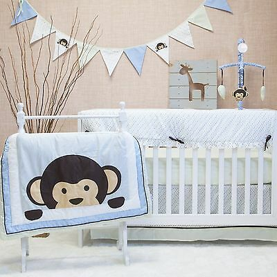 Pam Grace Creations 10 Crib Piece Bedding Set Maddox Monkey