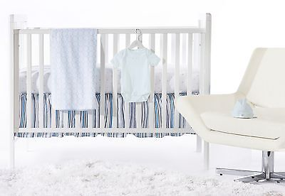 SwaddleDesigns 5 Piece Crib Bedding Set + Crib Skirt Pastel Blue 0-3MO
