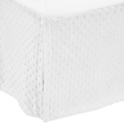 American Baby Company 170SS-WH Heavenly Soft Crib Bed Skirt (White) White