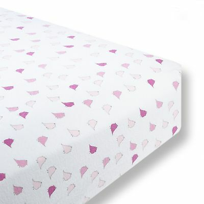SwaddleDesigns Cotton Flannel Fitted Crib Sheet Jewel Tone Little Chickies Pa...