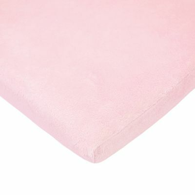 American Baby Company 4551-PK Heavenly Soft Chenille Cradle Sheet (Pink) Pink