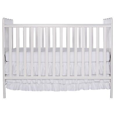 Dream On Me Classic 3 in 1 Convertible Stationary Side Crib White