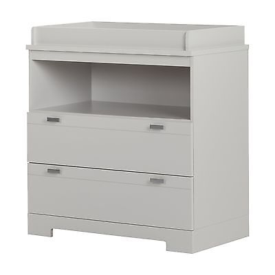 South Shore Furniture Reevo Changing Table with Storage Soft Gray