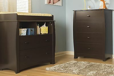 South Shore Furniture Beehive Changing Table with Removable Changing Station ...