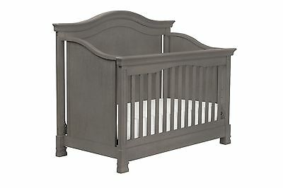 Million Dollar Baby Classic Louis 4-in-1 Convertible Crib with Toddler Rail M...