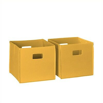 RiverRidge Kids 2-Piece Soft Storage Bins Golden Yellow