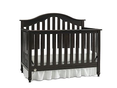 Fisher Price Kingsport Convertible Crib with Just the Right Height Espresso
