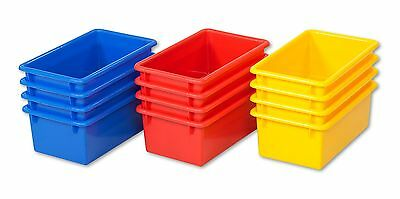 ECR4Kids Stack and Store Bin 15-Pack Assorted Colors