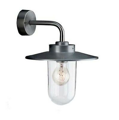 Philips/Massive Vancouver Clear Glass Outside Outdoor Wall Light Down Lantern