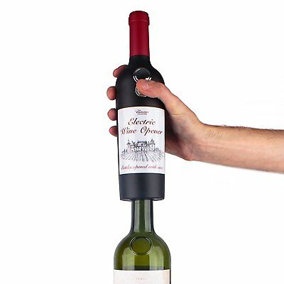 WINE BOTTLE Shaped Electric Corkscrew Opener Fast Automatic Cordless Foil Cutter
