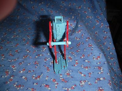 """Older JVZ Co Red Blue Robot  Head to Feet 3 9/16"""" H  ? Game Piece Cereal Premium"""