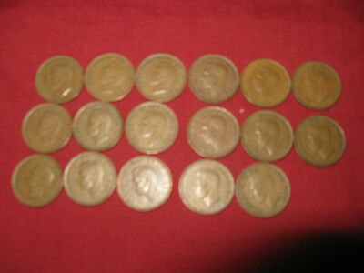 Complete Set Rare 17 Canada King George Vi Pennies 1937_1952