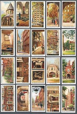 1922 Churchman's Cigarettes The Inns of Court Tobacco Cards Complete Set of 25
