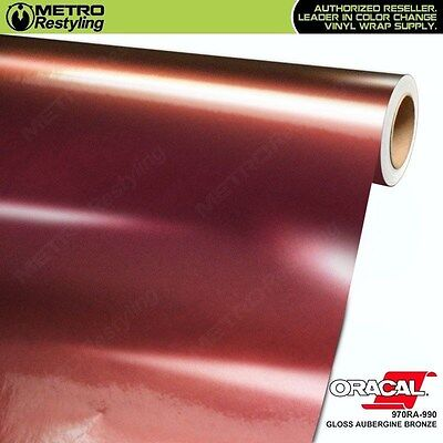 ORACAL 970RA-990 GLOSS AUBERGINE BRONZE Vinyl Vehicle Car Wrap Decal Film Roll