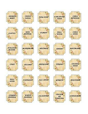 30 Square Stickers/Seals Spice labels Buy3 get1 Free (sp1)
