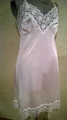 ASHLEY TAYLOR - WHITE Lace Trim FULL SLIP - SIZE 34 / 36-38 inches long