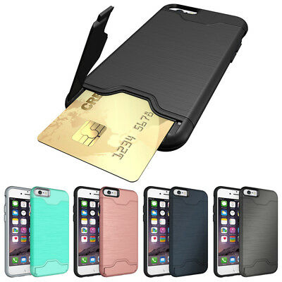 Card Holder Shockproof Wallet Case Cover for iPhone 7 6 6S Plus New