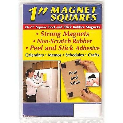 Small Parts Flexible Magnet Squares with Adhesive 1/16-Inch Thick 1-Inch Wide...
