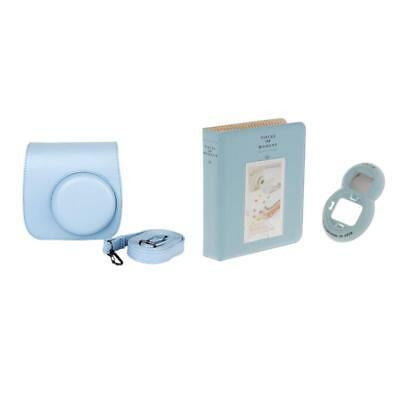 Blue Instant Camera Accessory Bundles Set for Fujifilm Instax Mini 8