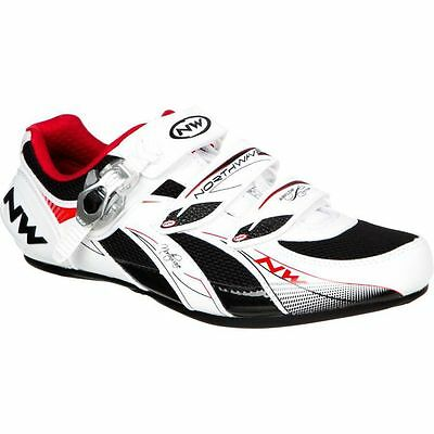 Northwave Venus SBS Womens Road Cycling Shoes White/Black/Red Size 36