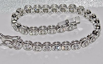 Sterling Silver (925) 4.00 Carat Girl's / Kid's / Child's Tennis Bracelet 6 inch