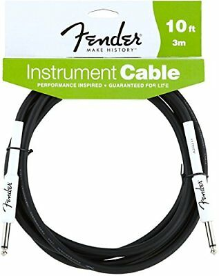 Fender Performance Series Electric Guitar Cable, Straight to Straight, 10' ft