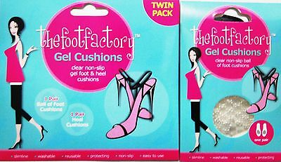 Gel Foot & Heel Cushions Ladies High Shoe Insole Comfort Party Feet Reuseable