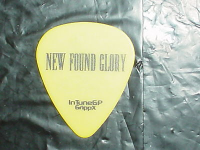 NEW FOUND GLORY Band Logo & 2006 IAN as SLASH Concert Tour Yellow GUITAR PICK