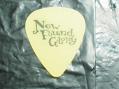 NEW FOUND GLORY Band Logo & 2004 IAN as SPERM Concert Tour Yellow GUITAR PICK