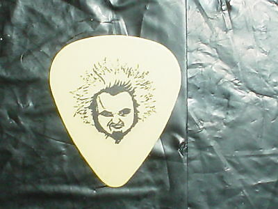 NEW FOUND GLORY Band Logo & IAN Drawing 2006 Concert Tour YELLOW GUITAR PICK