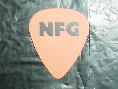 NEW FOUND GLORY Band Logo & Dog Concert Steve Klein Old Tour ORANGE GUITAR PICK