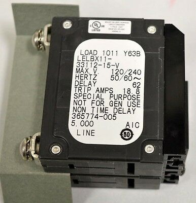 AIRPAX - ELECTRONIC Circuit Breaker on/off Switch, pulled from Equipment