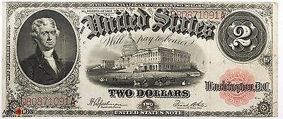 1917 $2 Legal Tender Very Fine Condition Excellent Quality Note