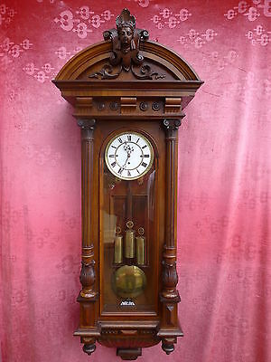 beautiful,antique Pendulum Clock__Viennese regulator__with und 3 weights__132cm