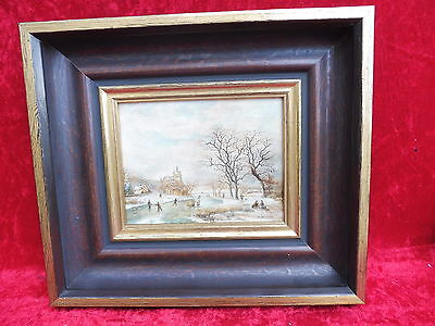 Pretty, old painting__animated WINTER LANDSCAPE__Signed