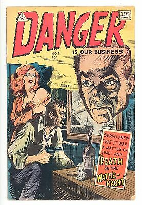 DANGER IS OUR BUSINESS #9  I.W. 1958 - Golden Age Reprints 1951 & 1953 - VG-