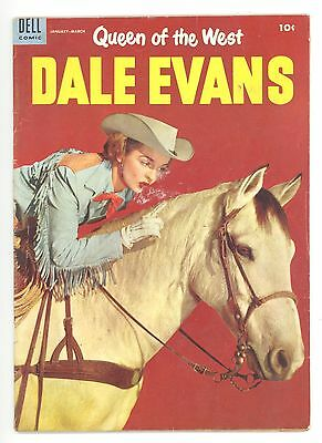 QUEEN OF THE WEST DALE EVANS #6  Dell 1955 - Russ Manning Art - VG-
