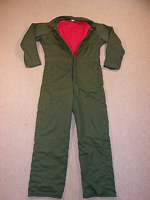 #2712, Men's Unbranded Quilted Insulated Winter Coveralls, Small Reg