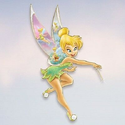 Think Happy Thoughts Pixie Wall Plaque Tinker Bell Fairy Disney Bradford