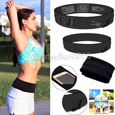 """Fitness Sports Jogging Running Waist Belt Pouch Bag Case For 3.5"""" -6"""" Cell Phone"""