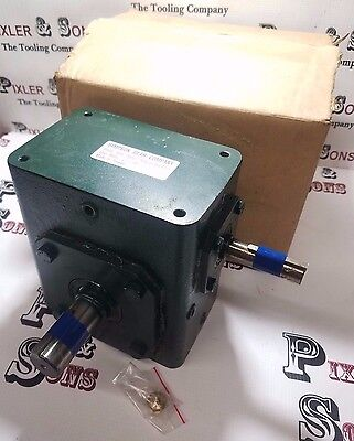 "New Simpson Worm Gear Motor Reducer 1:10 Ratio Transducer Speed Rpm 5/8 & 1"" Sft"