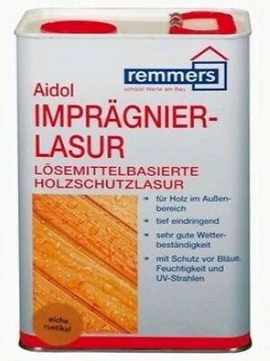 10,16€/L Remmers impregnation glaze 20 L Wood Stain Protection Choice of color
