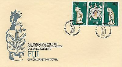 FIJI 1978 CORONATION Stamps FIRST DAY COVER Suva Postmark REF:PP70