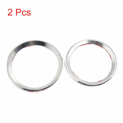 2pcs Silver Tone Car Hood Front Back Logo Decorative Ring for BMW 3/4 Series