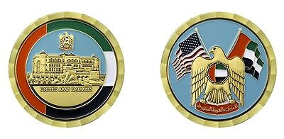 """United Arab Emirates Crossed Flags 1.75"""" Challenge Coin"""