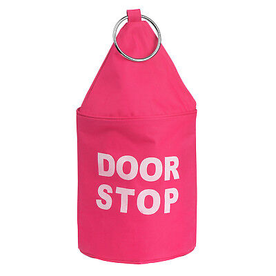 Hot Pink Polyester Cylinder Home Office Bedroom Lounge Safety Door Stop Stopper
