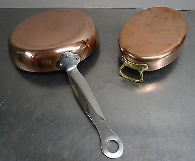 made in Denmark - vintage frying pan - massive Kupfer Pfanne Cohr Kupferpfanne